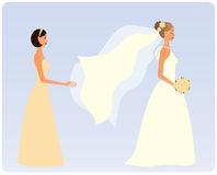 Bridesmaid Stock Illustrations.