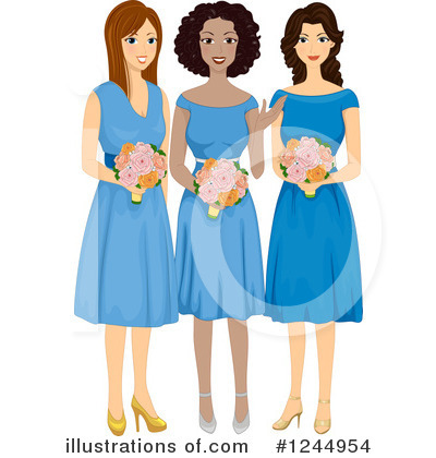 Bridesmaid Clipart #1244954.
