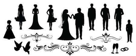 582 Bridesmaid Silhouette Stock Vector Illustration And Royalty Free.