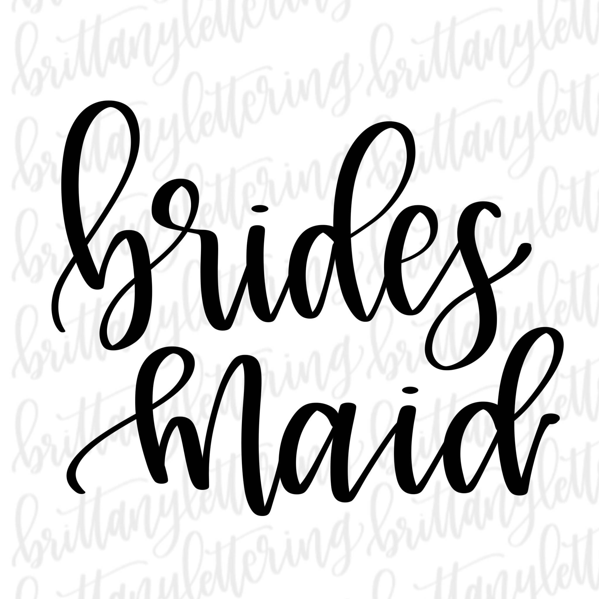 Collection of Bridesmaid clipart.