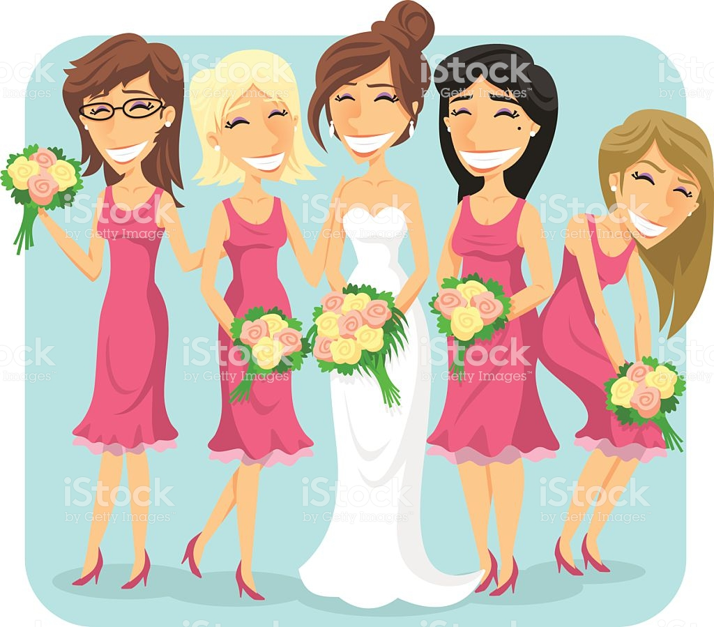 Best Bridesmaids Illustrations, Royalty.