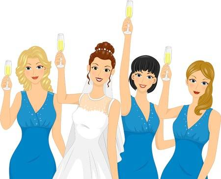 203 Bridesmaids Cliparts, Stock Vector And Royalty Free Bridesmaids.