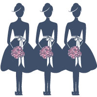 Bridesmaid Dress Silhouette.