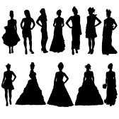Bridesmaid Silhouette Clip Art & Look At Clip Art Images.