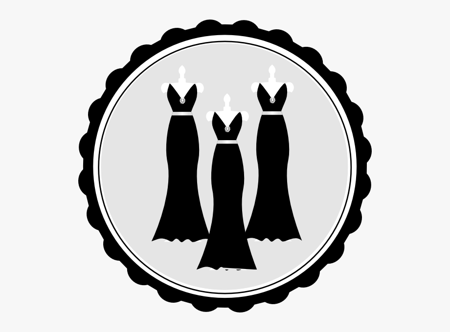 Bridesmaid Dress Clipart.
