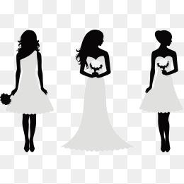 Bridesmaid Silhouette Clip Art at GetDrawings.com.