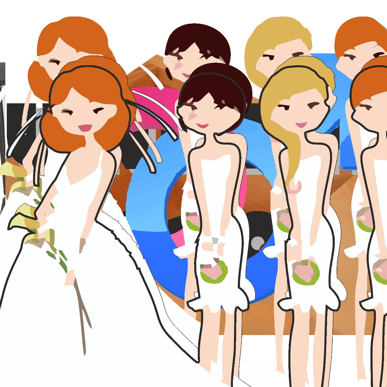Bridesmaid Clipart.