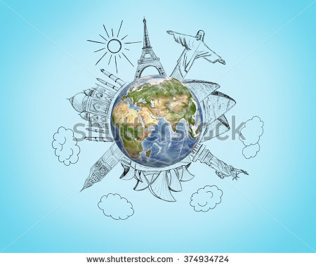 Wonders Of The World Stock Photos, Royalty.