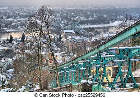 Stock Images of Dresden Blue Wonder night.