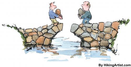 Building bridges clipart.