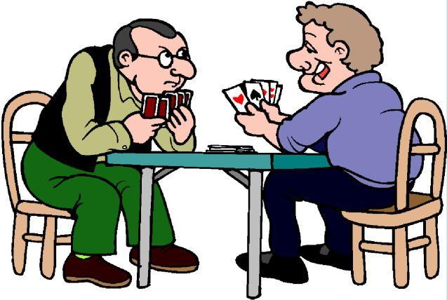 Card playing clipart.