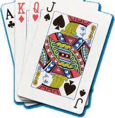 Bridge Cards Clipart.