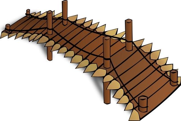 Wooden Bridge clip art Free vector in Open office drawing svg ( .svg.