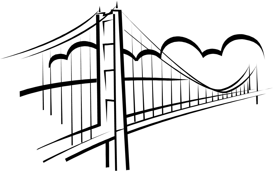 Simple Bridge Clipart.