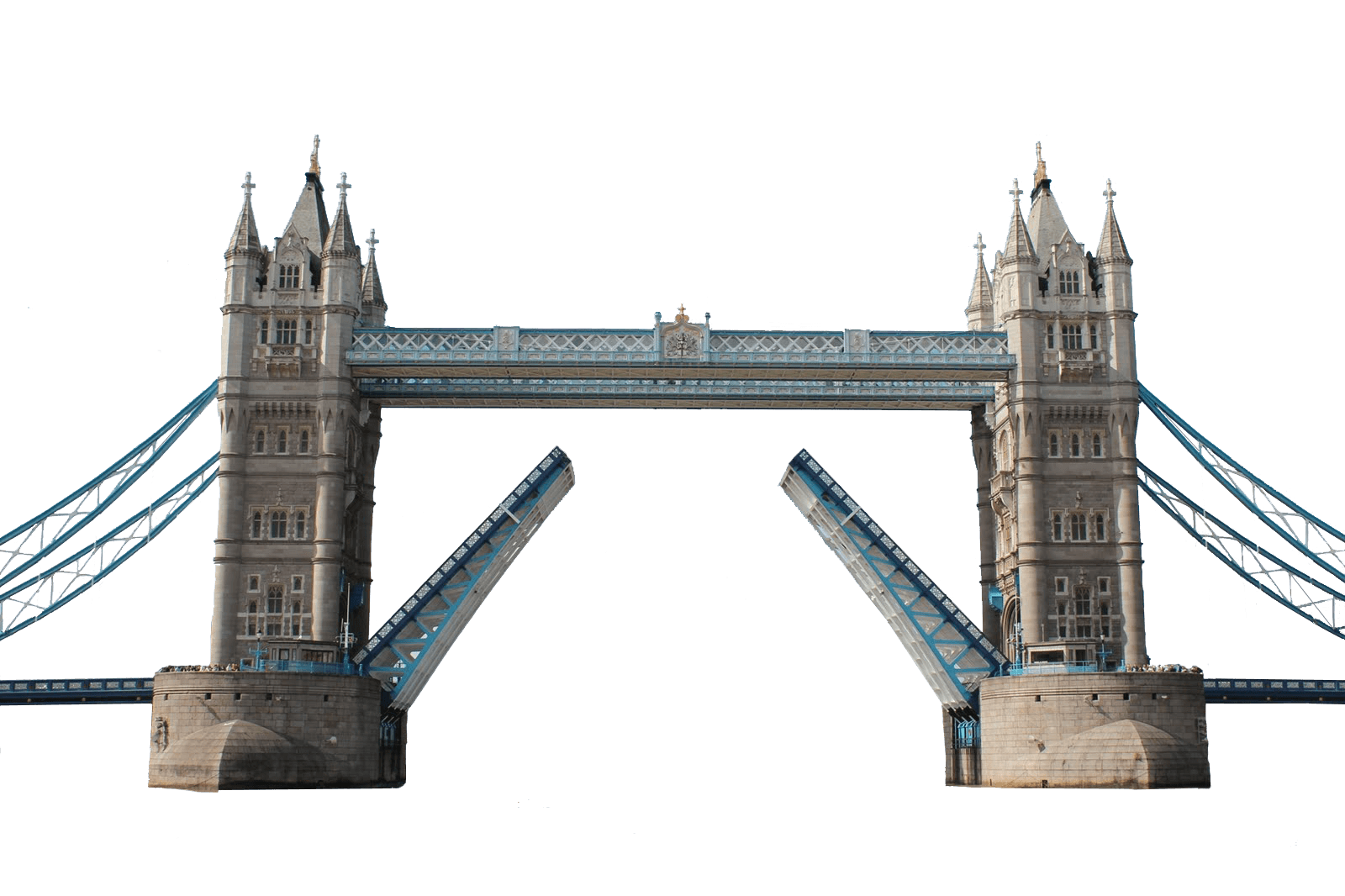 London Tower Bridge Silhouette Clipart transparent PNG.
