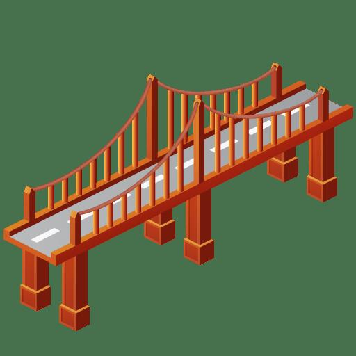Bridge Clipart transparent PNG.