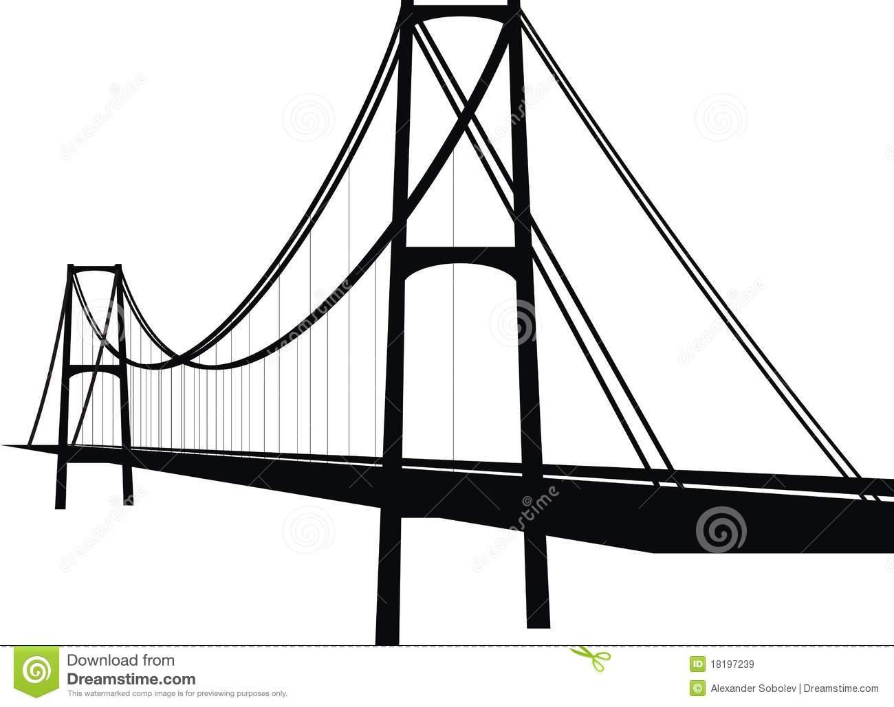 suspension bridge clipart