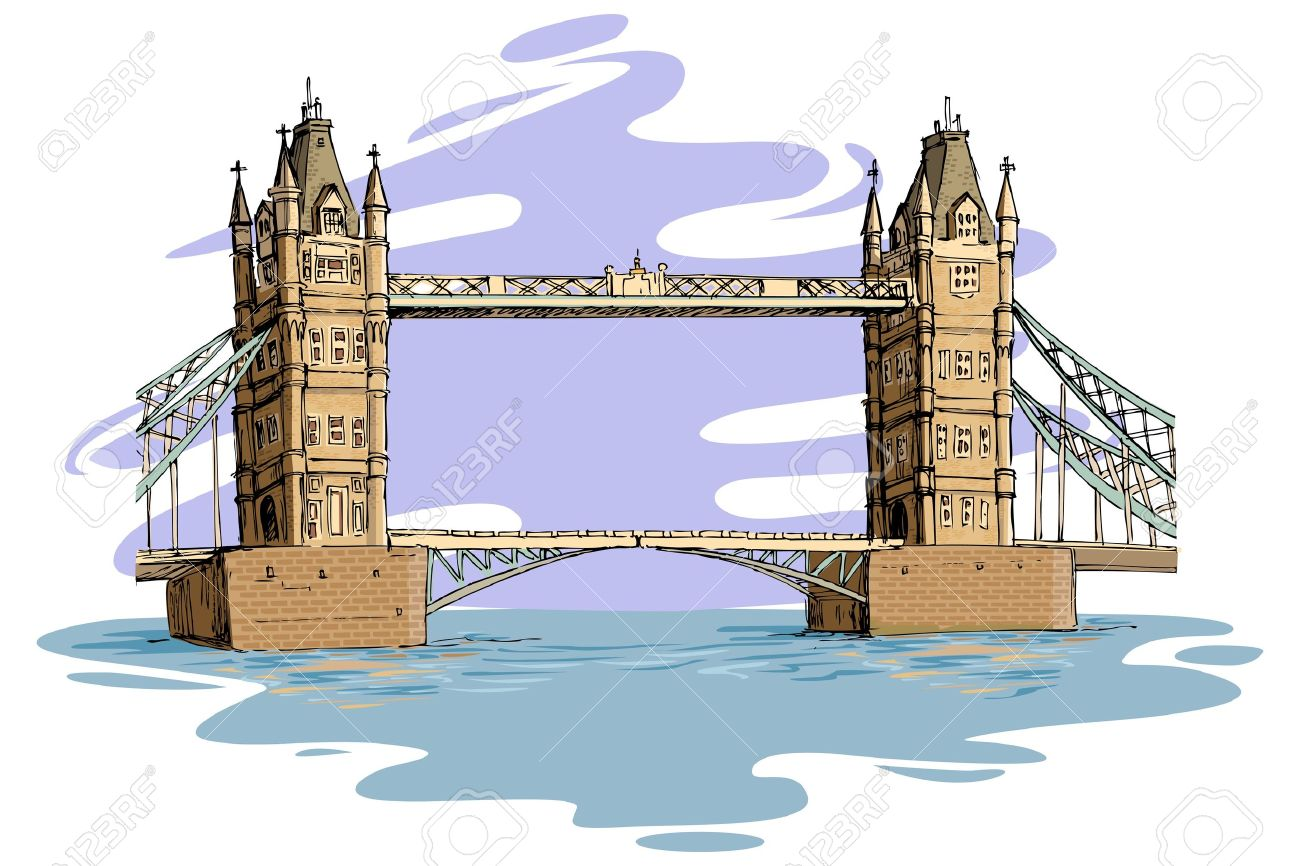 London Bridge Clipart on tower bridge cartoon