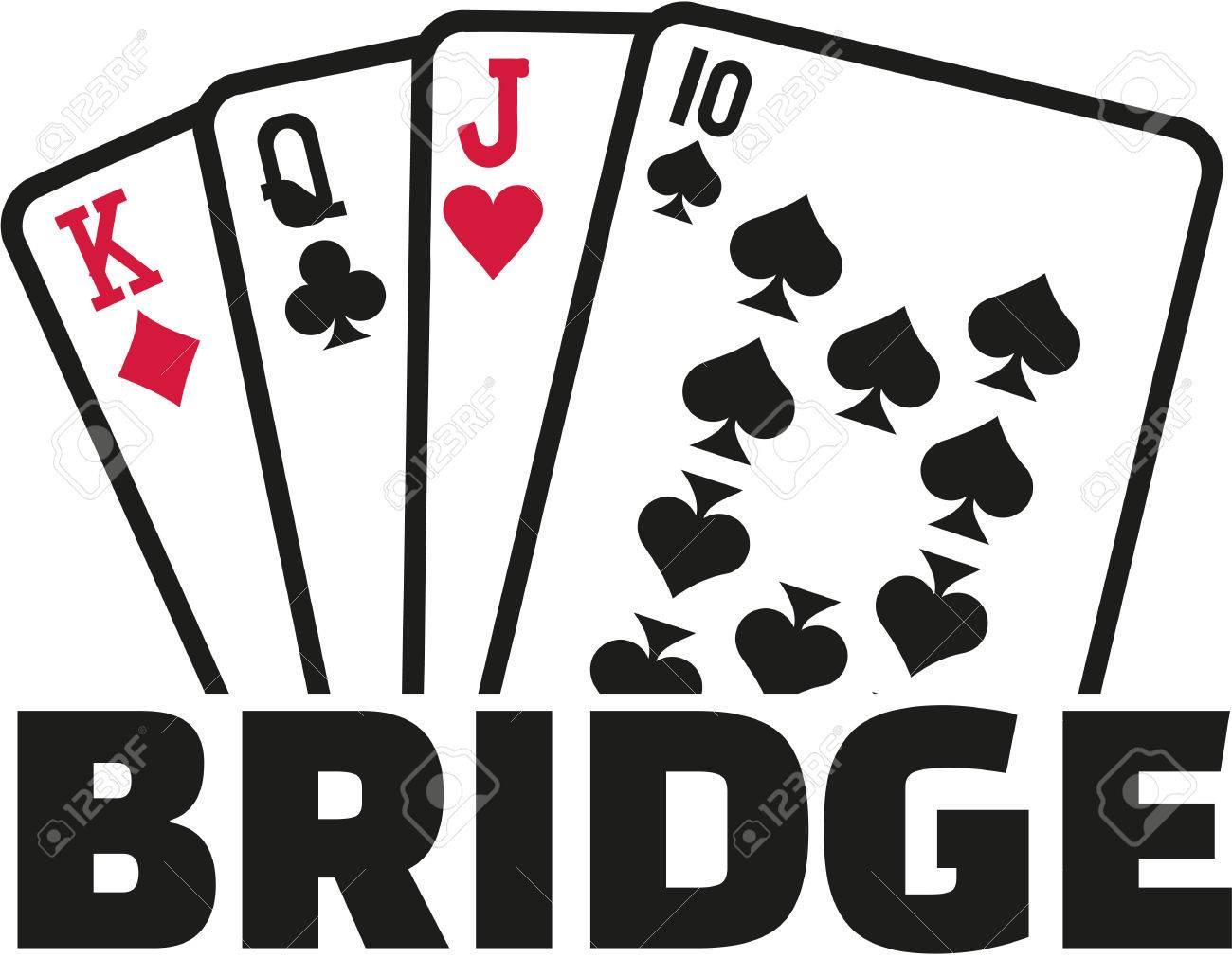 Bridge cards.
