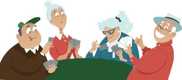 Best Bridge Card Game Illustrations, Royalty.