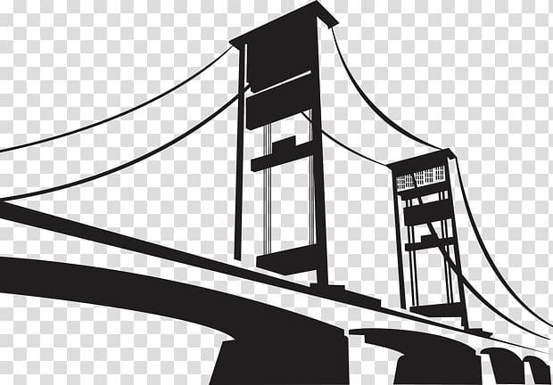 Cable bridge , Ampera Bridge Icon, others transparent.