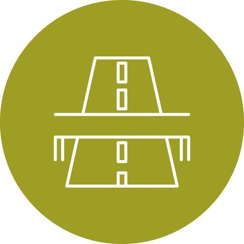 Vector road bridge icon.