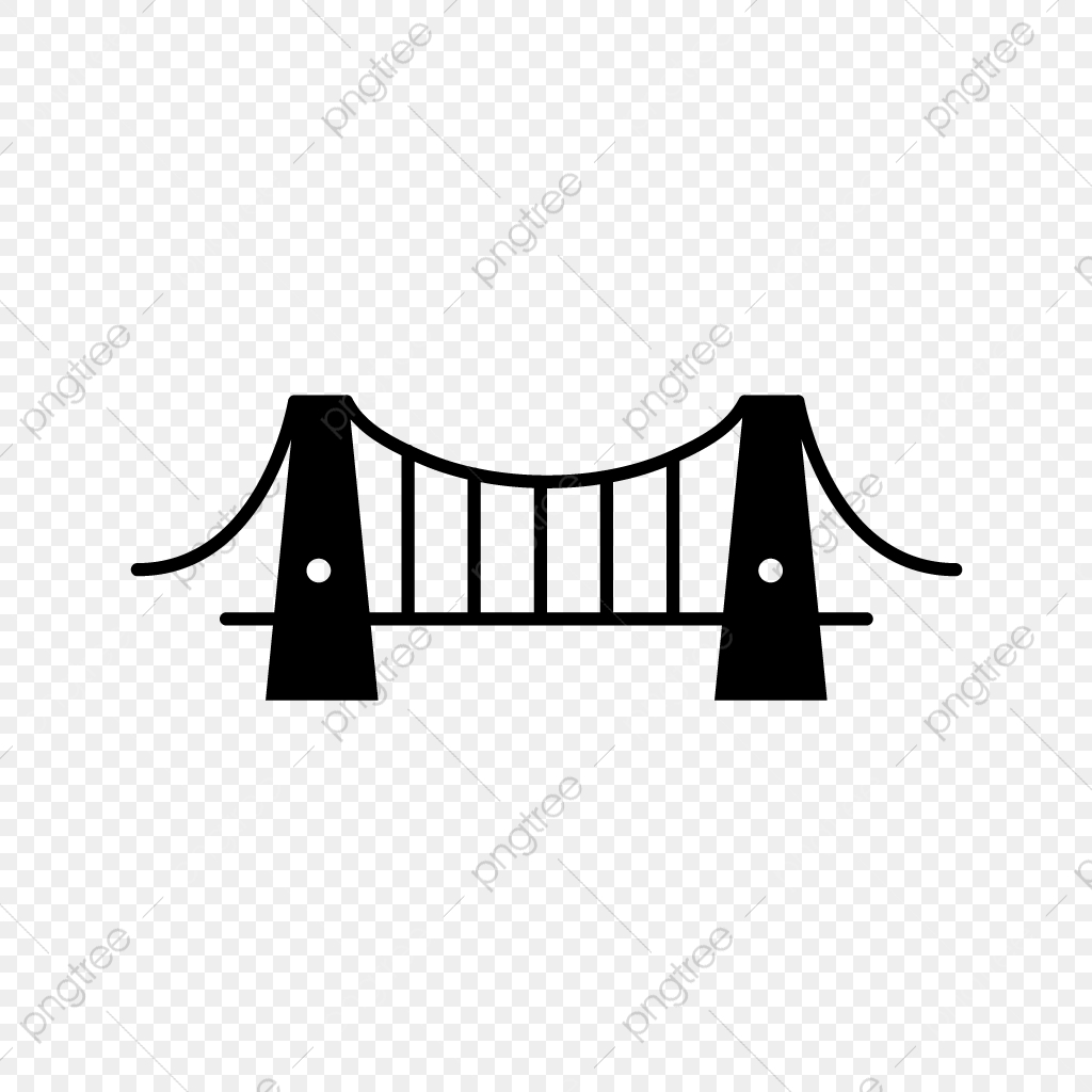 Vector Bridge Icon, Bridge Icon, River, Construction PNG and Vector.