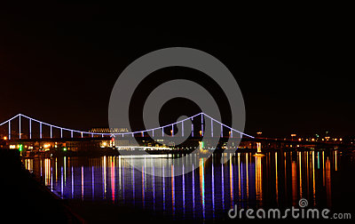 Green Bridge In Wloclawek Stock Photo.