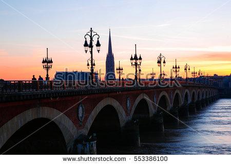 """""""pont De Pierre In Bordeaux"""" Stock Photos, Royalty."""