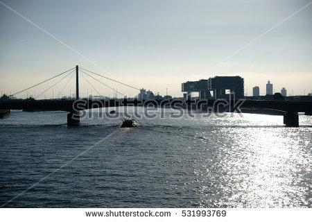 Rhine Bridge Stock Photos, Royalty.