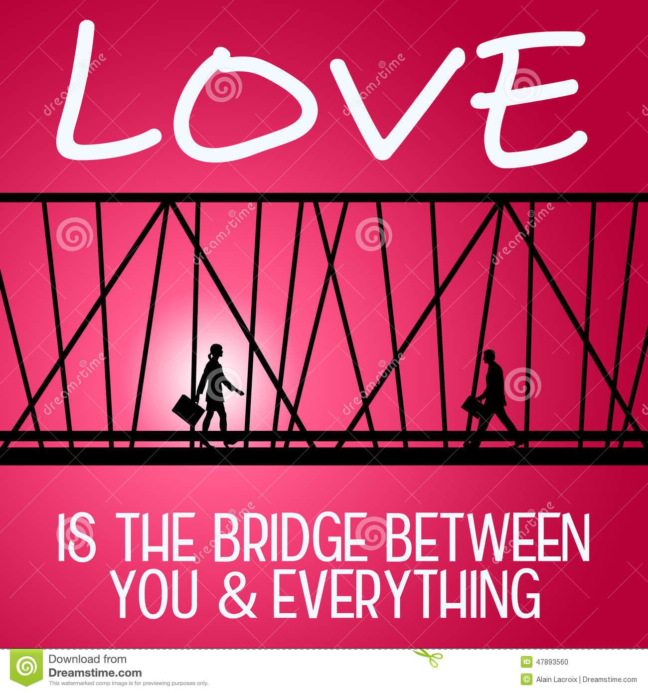 Lovers Bridge Stock Illustrations.