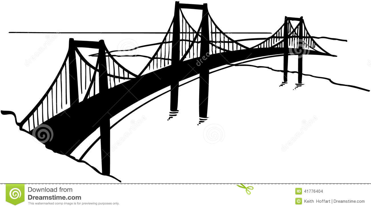 Cartoon bridge clipart.