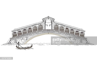 Venice, Bridge of All Lovers, Sketch Collection stock vectors.