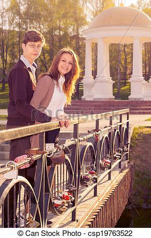 Stock Photo of Young fashion elegant stylish coupl ein love posing.