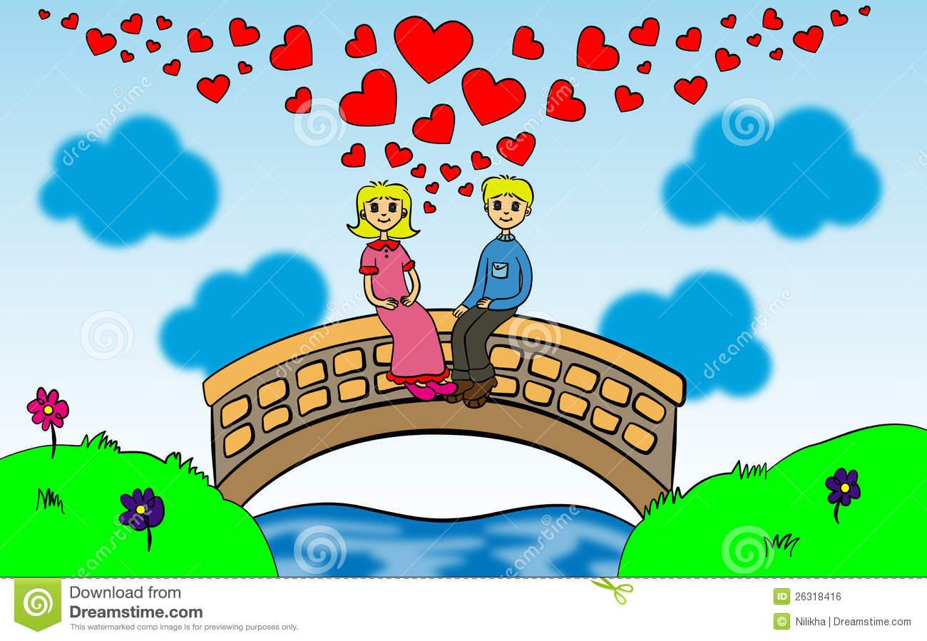 Love On The Bridge Royalty Free Stock Image.