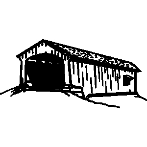 Covered bridge clip art.