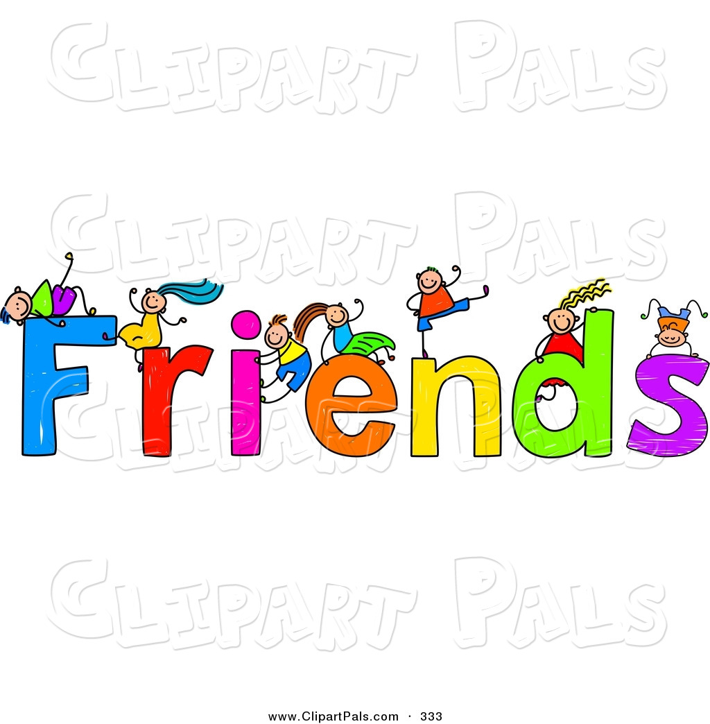 clip art cartoon friends.