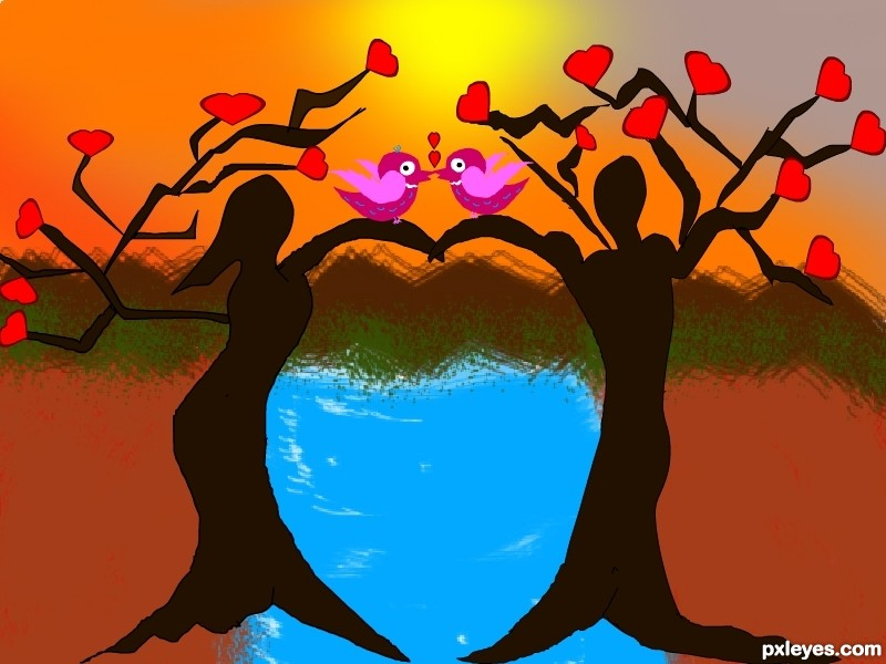 bridge of love picture, by rupa for: bridging drawing contest.