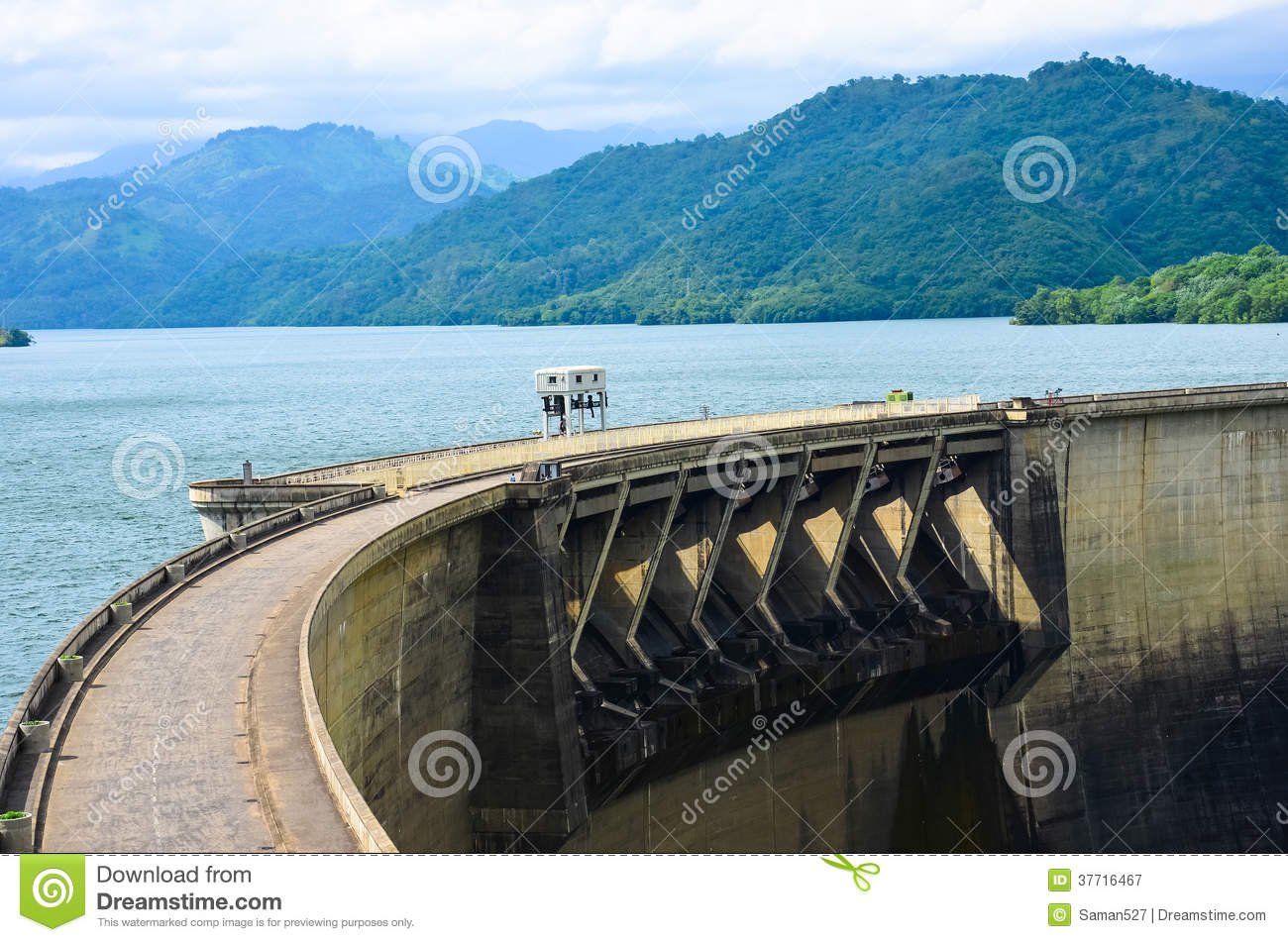 Victoria Dam Royalty Free Stock Photography.