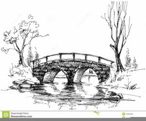 Bridge Over Water Clipart.