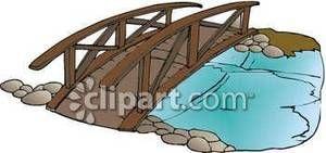 clip art bridge over water.