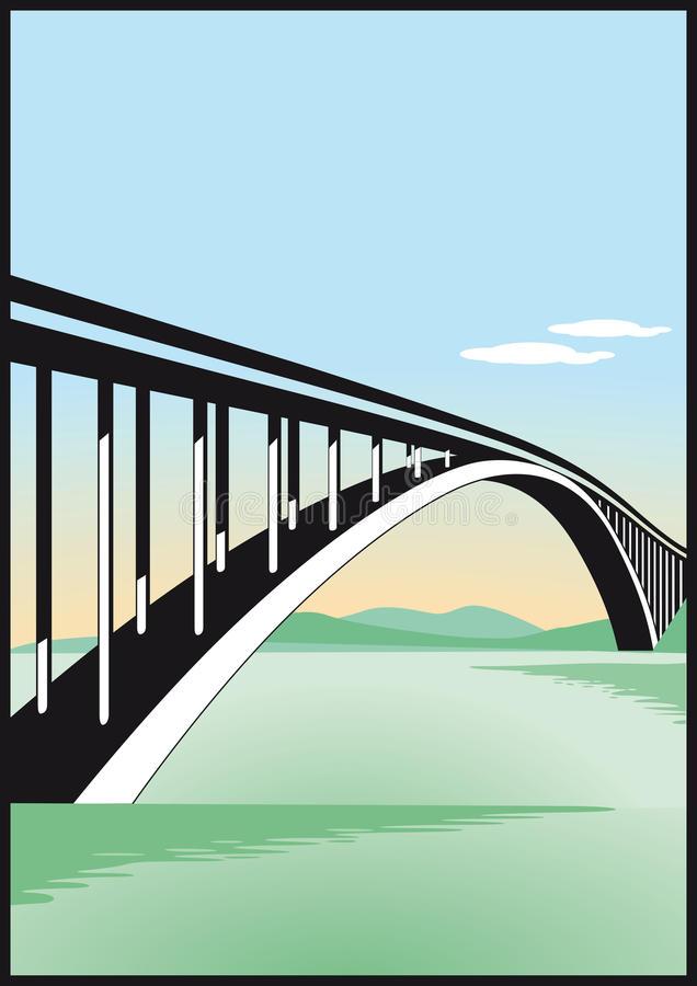 Bridge Over Water Stock Illustrations.