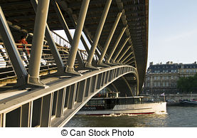 Stock Image of Modern bridge parapet,Have a strong sense of.