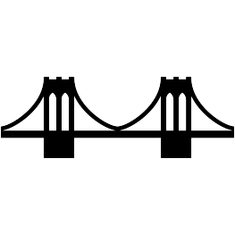 Brooklyn Bridge Silhouette FREE SVG.
