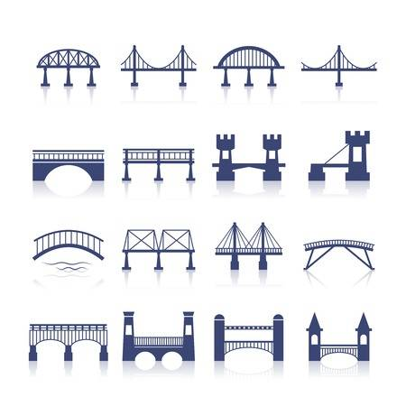 9,414 Bridge Silhouette Stock Vector Illustration And Royalty Free.