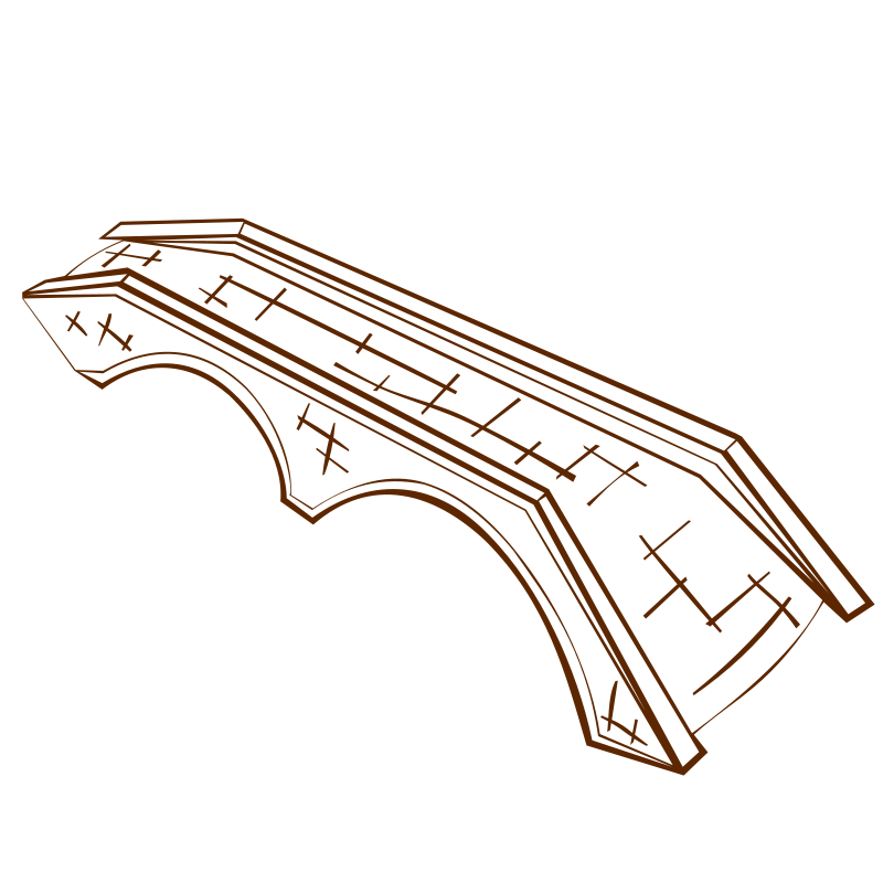 Free Clipart: RPG map symbols Stone Bridge (alternate) 2.