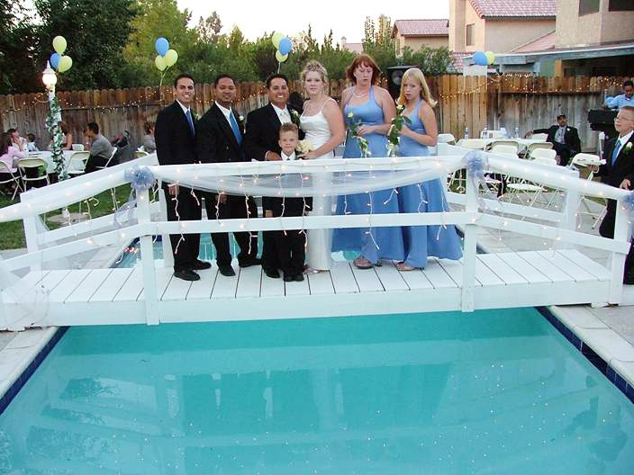 Pool Bridge for a Wedding.