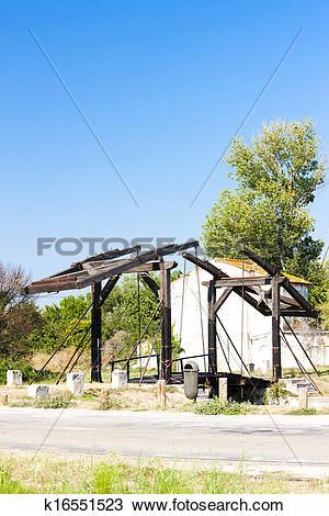Stock Photo of Vincent van Gogh bridge near Arles, Provence.