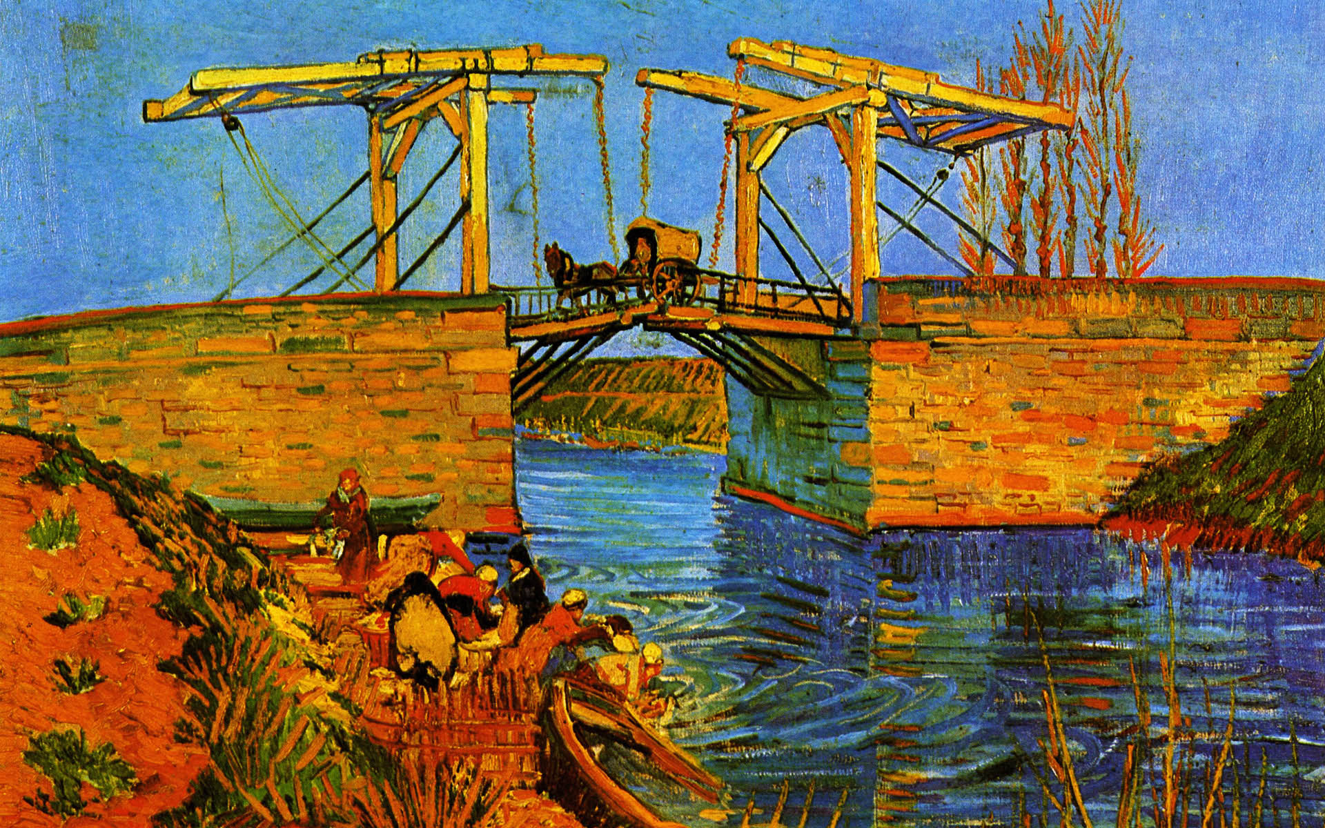 Bridge van gogh clipart #7