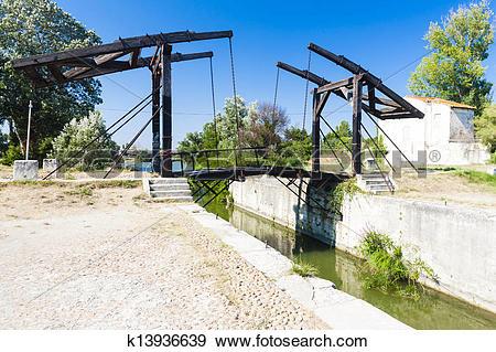 Stock Photograph of Vincent van Gogh bridge near Arles, Provence.